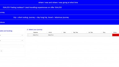 Screenshot of the website designed by Marta Beauchamp